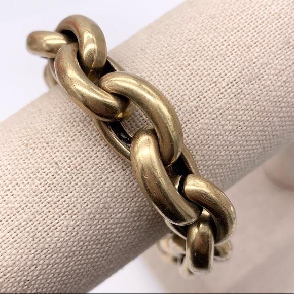J. Crew Brushed Gold Link Bracelet